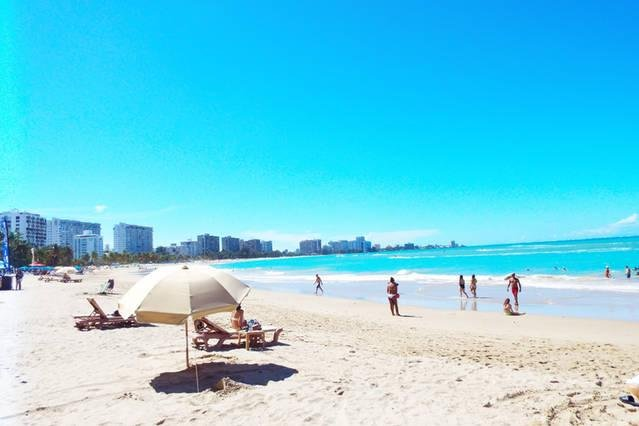 Isla Verde Beach, only steps from Studio.