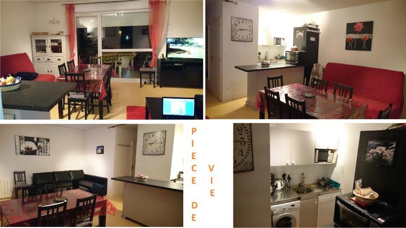 TRES BEL APPARTEMENT 45M² BIEN EQUIPE, balcon sud, wifi,garage, alquiler de vacaciones en Saint-Martin-d'Uriage