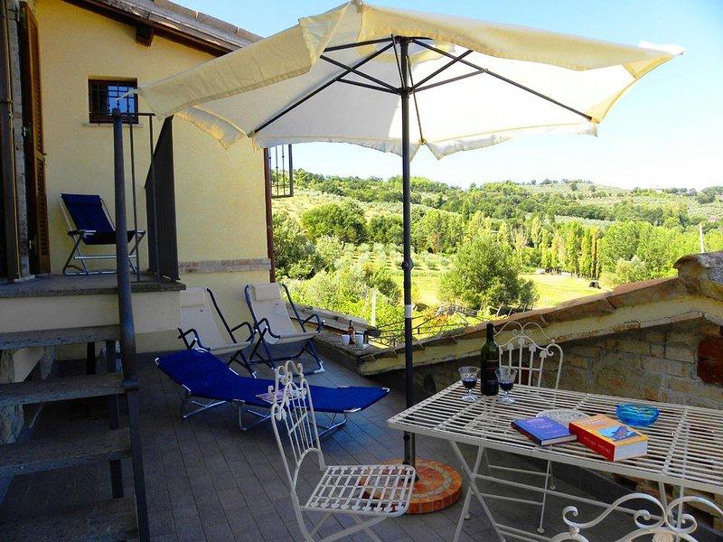 Apartment fantastic view on Umbrian hills, Assisi, Spello and Bevagna, location de vacances à Pietrauta