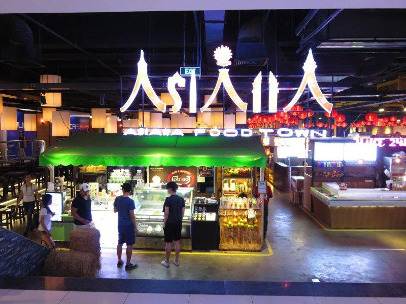 Asiana Food Town, grande cour alimentaire à l'intérieur Sense marché UG centre commercial