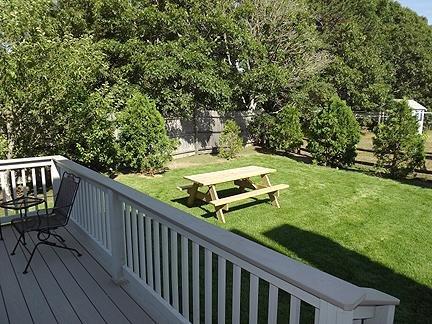 Picnic Table in Back Yard