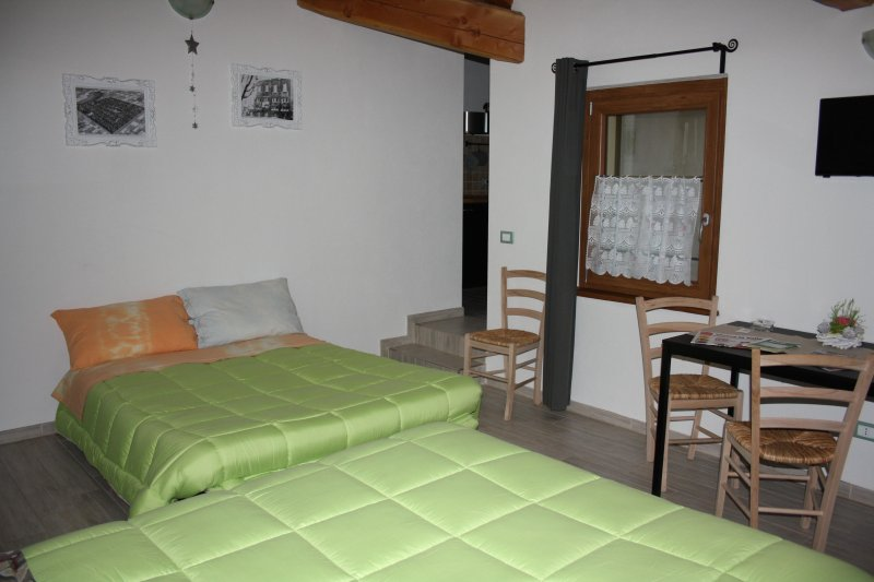 EMERALD with sofa bed opened