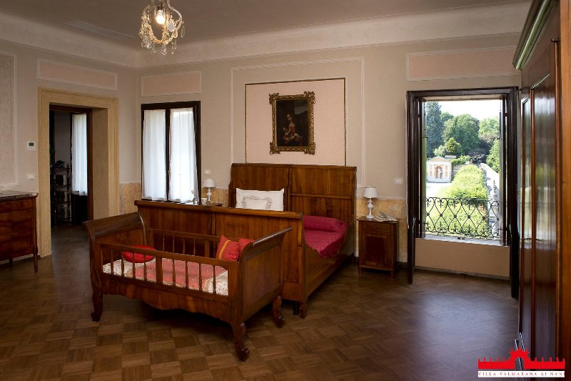 second Bedroom, special designs on the walls, a view of the park Rear
