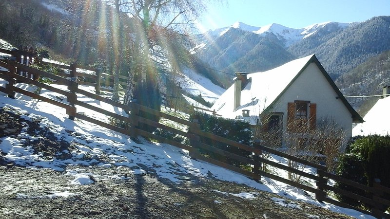 The chalet with first snow
