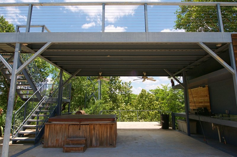 Enjoy this great deck area with two levels!