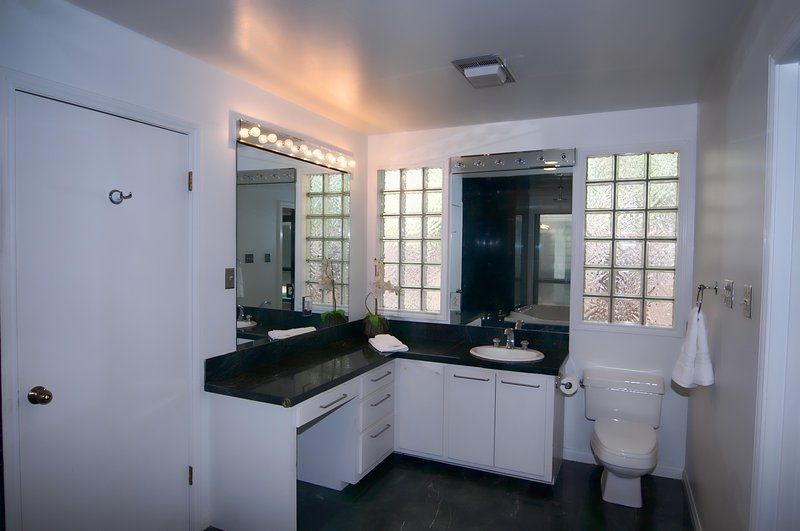 Fantastic master bath with a two person jetted tub
