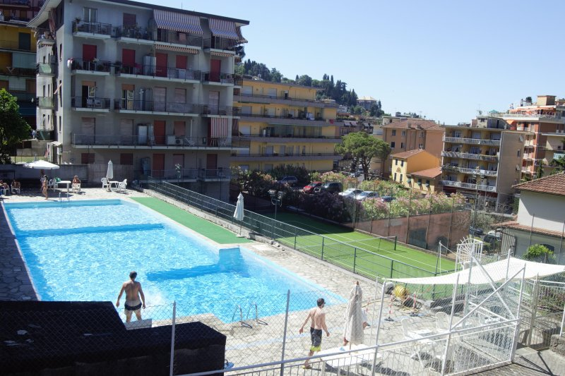 Swimming at the price of 5.00 Eu at entrance and tennis courts at the price of 5.00 Eu per hour