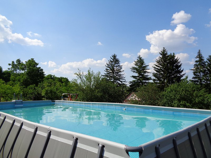 A view of Tranquil Pines from our new swimming pool