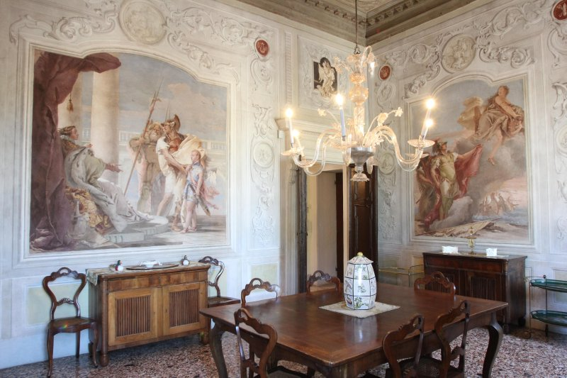 """The dell ' """"Aeneid"""" room, decorated with frescoes by GB Tiepolo"""