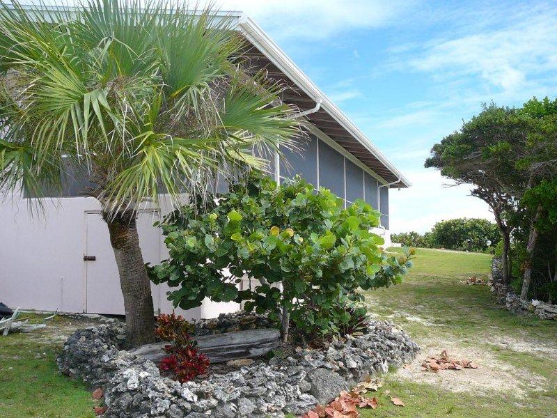 jardines tropicales rodean nuestra casa.