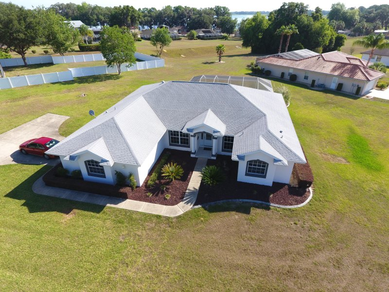 Drone foto van ons huis