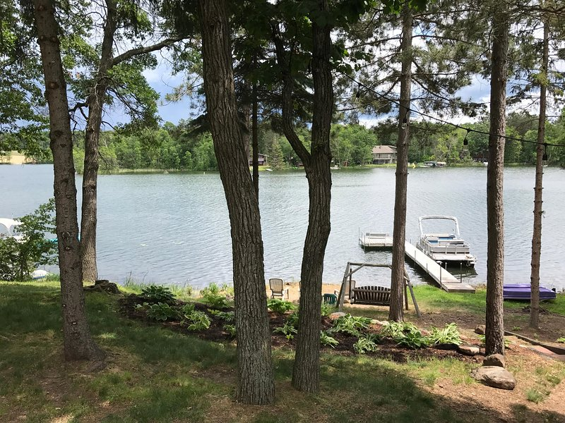 Enjoy views from living areas and both bedrooms. Plus the sounds of the loons.