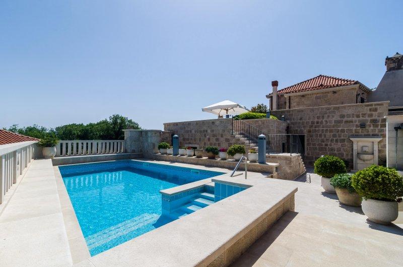 Luxury studio apartment with private pool, location de vacances à Mocici