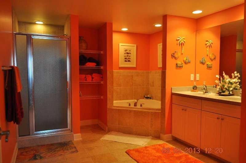Master Bath double sink, jetted tub and separate shower