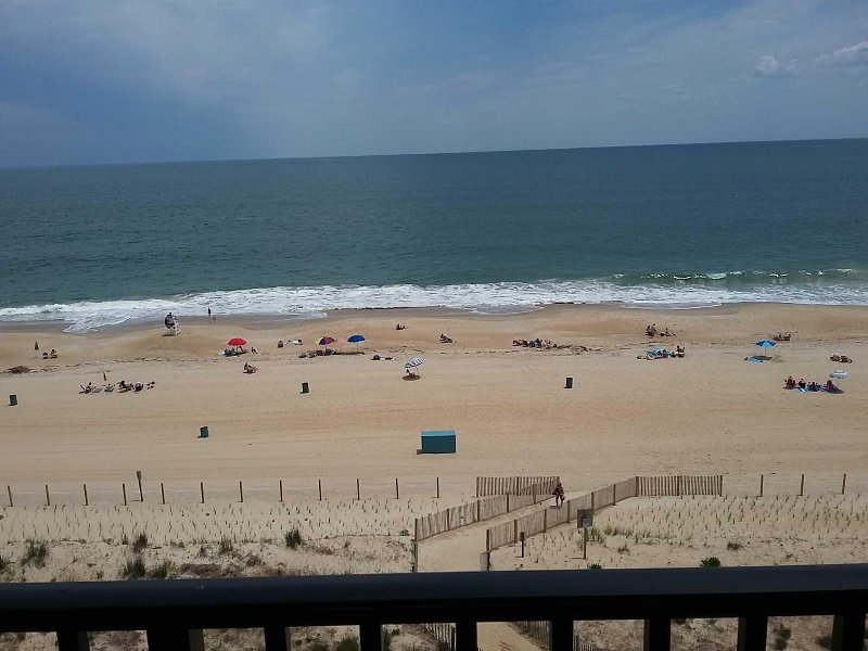 View of Beach in early June from Balcony