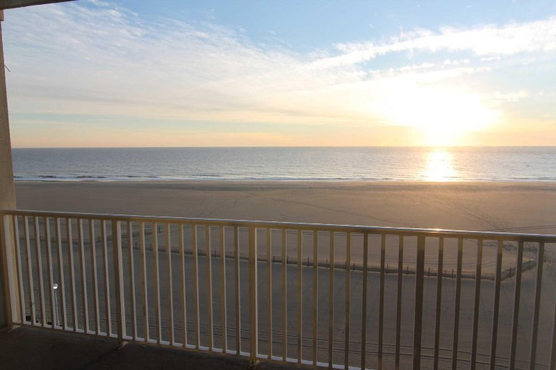 View from Balcony of Sun Rise over the Atlantic Ocean