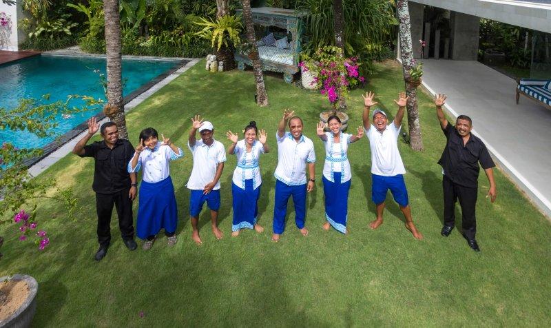Personnel sympa et serviable à la Villa Zambala, Berawa Beach, Bali