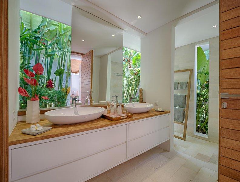 Twin Salle de bain, Guest Wing, Villa Zambala