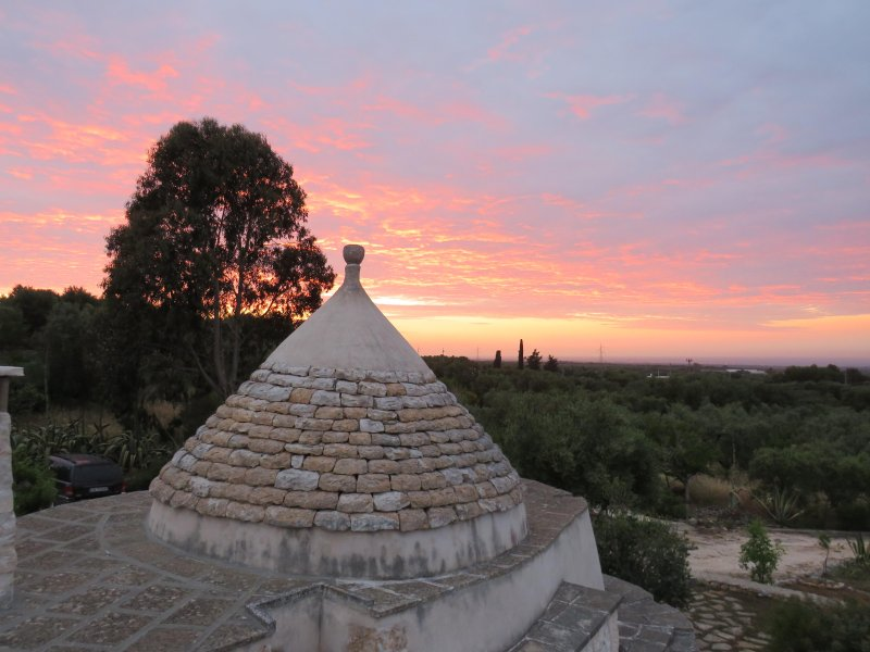 Rooftop Sunset at the Trullo