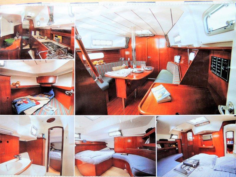 Interior sailboat