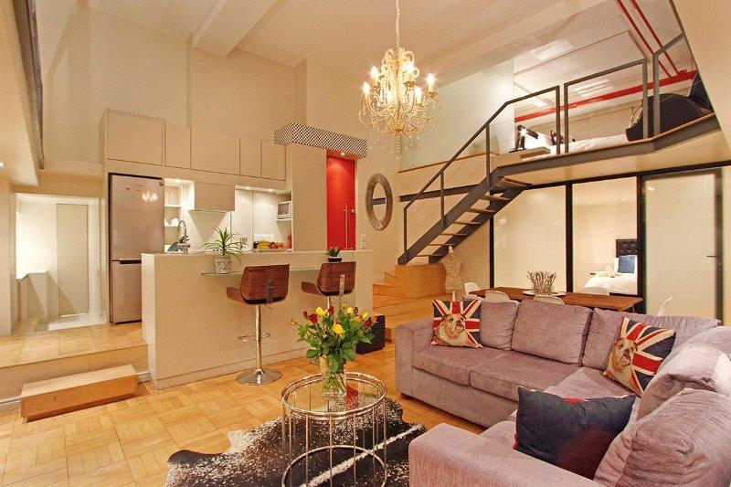 Open space 2 camere da letto splendido appartamento nel centro di Città del Capo