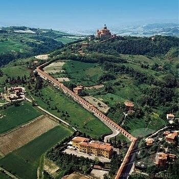 The portico that leads to the Basilica of San Luca