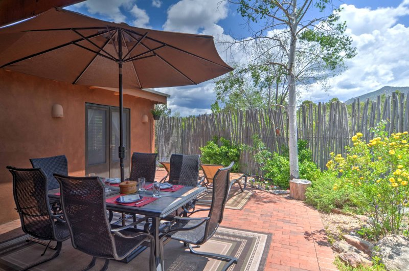 Experience the magic and exuberance of Santa Fe from this vacation rental house.