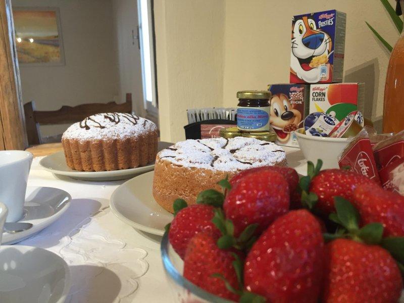 frutas y desayuno