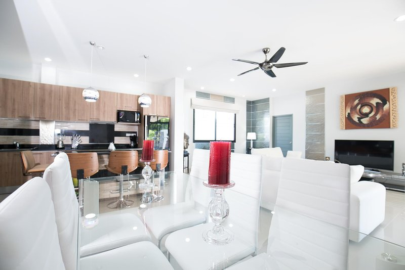 Modern Living/Kitchen Area
