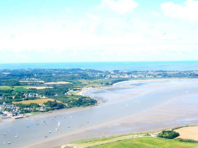L'estuaire de la Vilaine, vue au dessus du camping
