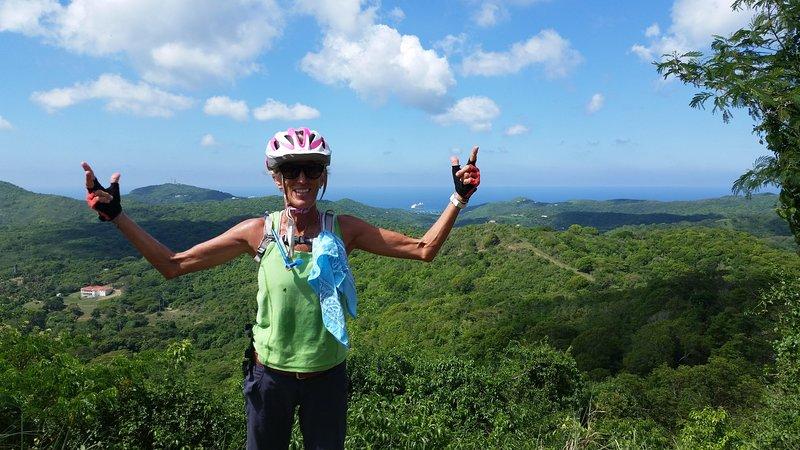 That's me, mountain biking.  My favorite pastime