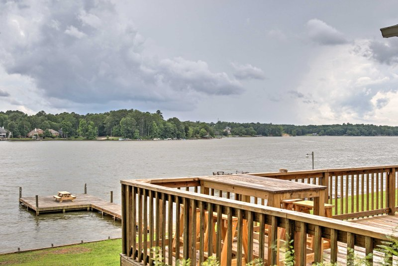 The home is situated right on the Lake Greenwood and offers a private dock.
