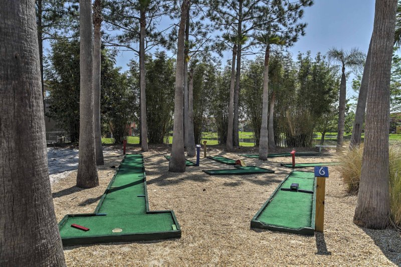 Practice your short game at the mini golf course.