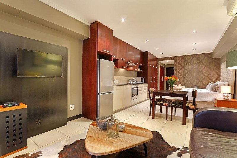 Open-plan studio apartment