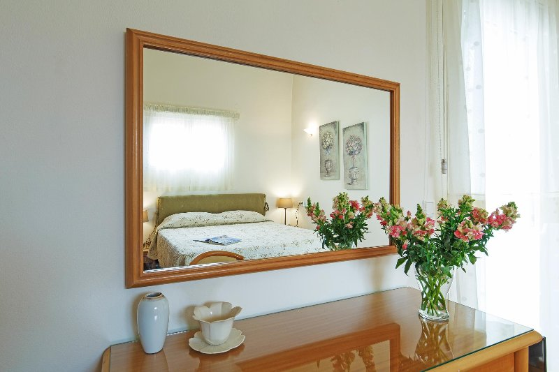 Double bed bedroom detail