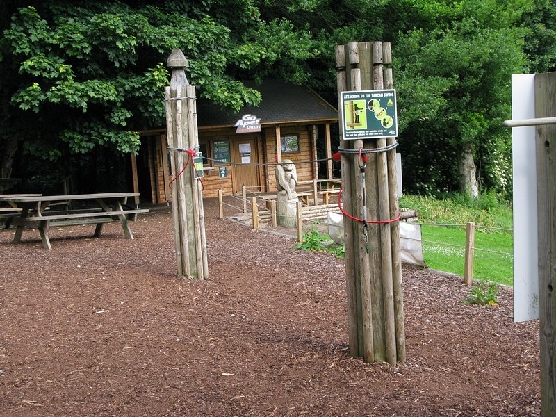 Kids and big kids can enjoy Go Ape treetop climbs at Crathes Castle