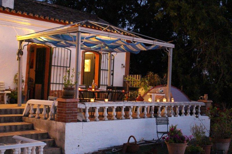 Terrace outside Studio on a warm summer evening