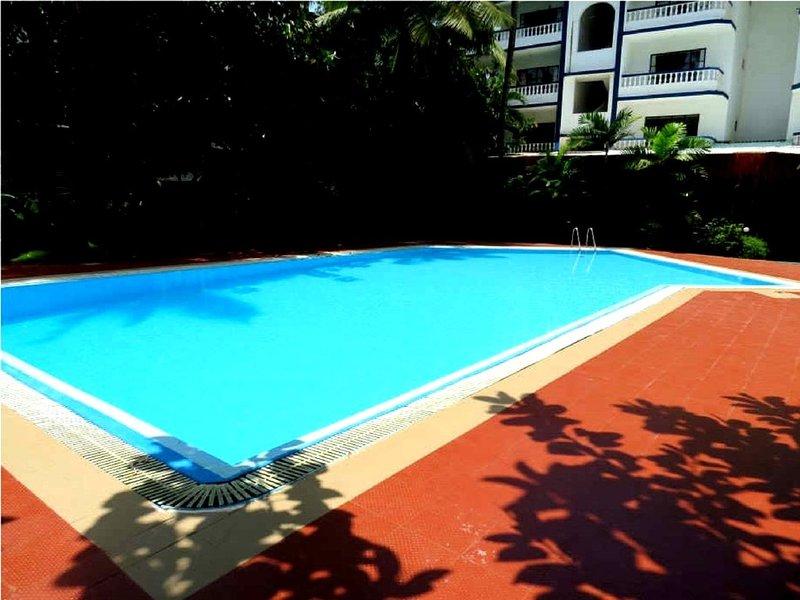 Studio 19 Holiday North Goa w/terrace /Pool/Free Wi-Fi Wireless, holiday rental in Goa Velha