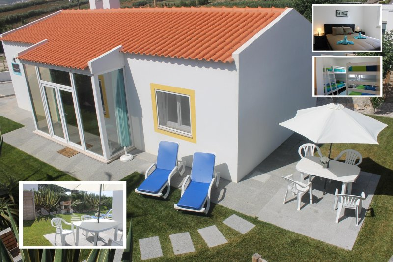 Quality cottage, pool, calm, beach, play garden, central location, vacation rental in Seixal