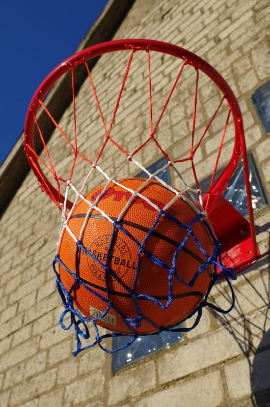 Basketballkorb am Haus
