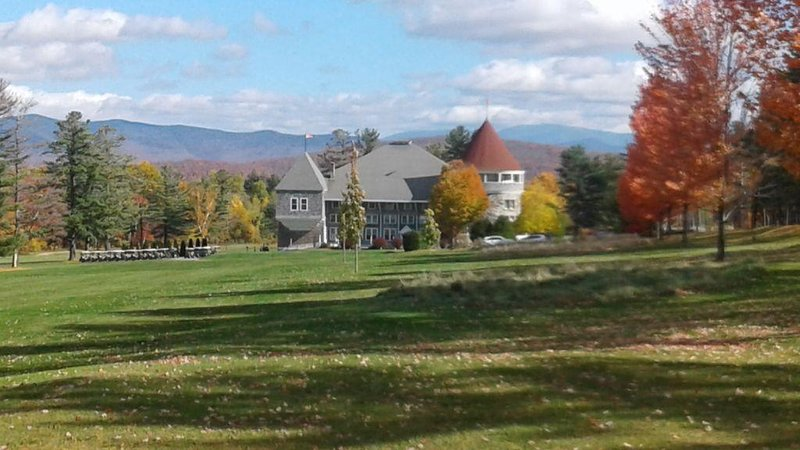 Maplewood golf course with Mt. Washington in background.