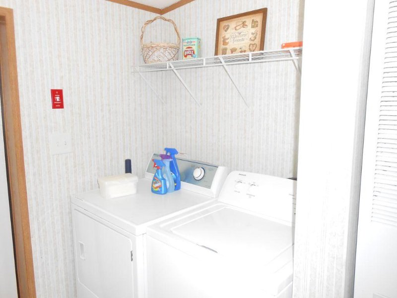 Laundry room with washer and.dryer