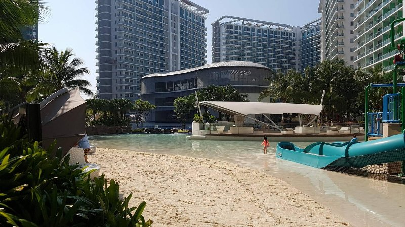 Azure beach and waterpark