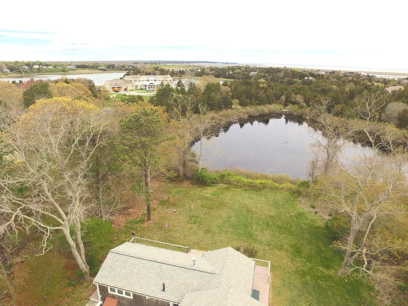 Luchtfoto van Home and Kettle Pond