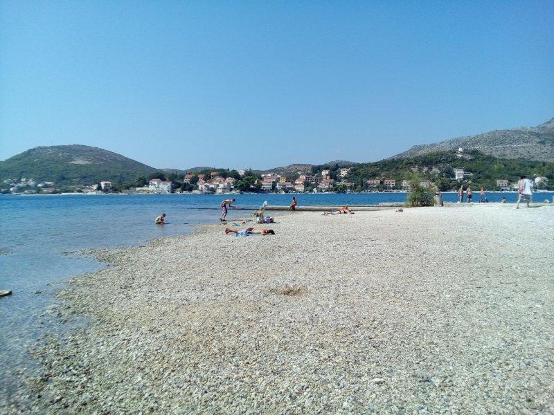 praia em frente da casa