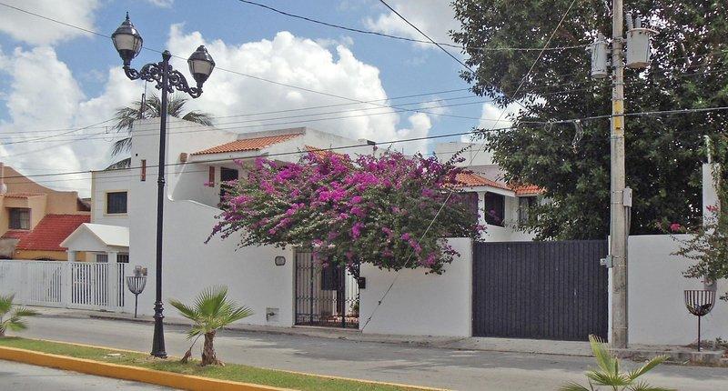 Extérieur de la propriété sur l'avenue 10 entre Xel Ha (Calle 15) et Calle 17