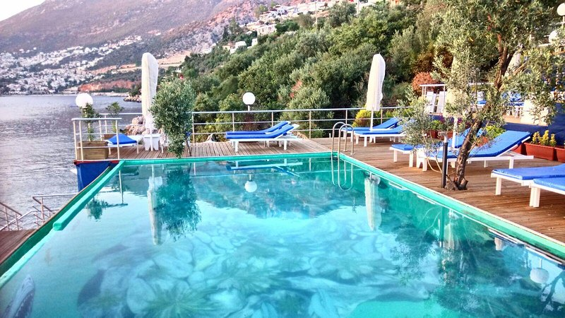 New Pool for 2017 at the Kalkan Beach Park, just 150 metres from Villa Amare