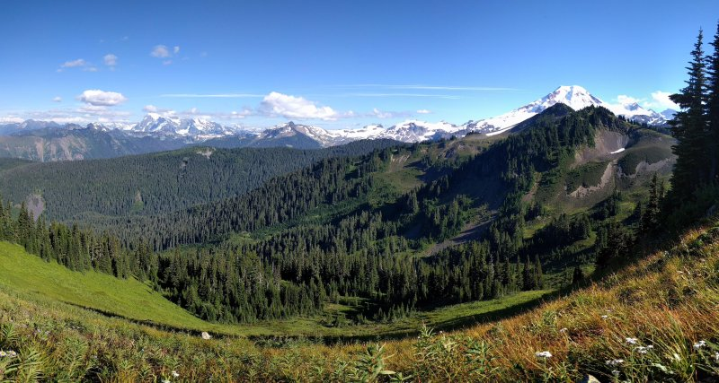 Hiking near Mt. Baker, roughly an hour away.....with a breathtaking drive.