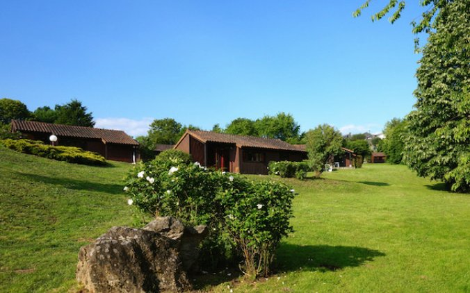 Casa vista desde la parte inferior del camping