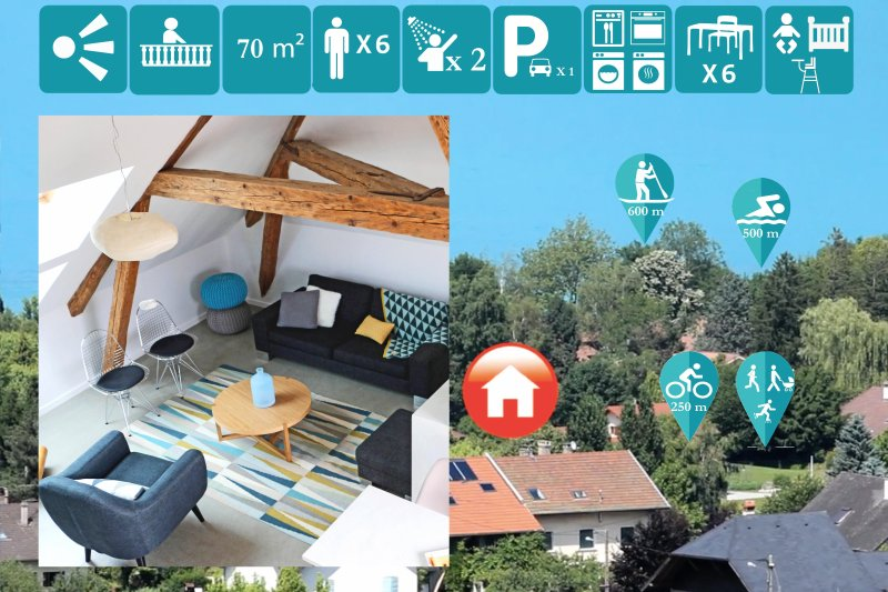 annecy home**** - VIGNERONNE, holiday rental in Alex